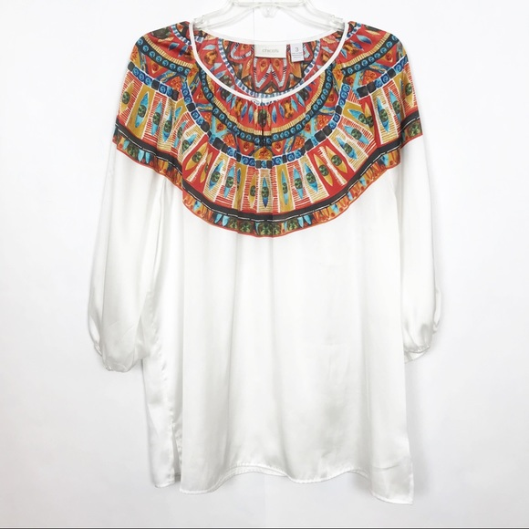 Chico's Tops - Chico's | Plus Size | Blouse | 3x | Bohemian Print
